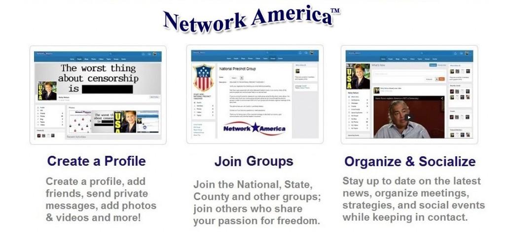 Enter Network America Social Community