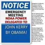 Obama Delegates NDAA Power to John Kerry – EMERGENCY MEETING TONIGHT!!!