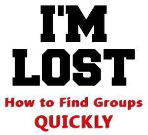 HOW TO FIND GROUPS QUICKLY